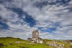 Smailholm Tower Kelso Borders District Scotland United Kingdom Europe Stock Photos