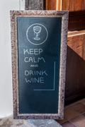 sign in front of a restaurant - stock photo