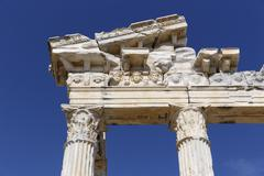Temple of Apollo ancient city of Side Pamphylia Antalya Province Turkey Asia - stock photo