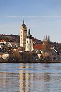 Stock Photo of Krems Stein on Danube river Altstadt am Wasser Krems Stein Waldviertel Lower