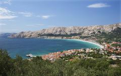 Townscape Baska Krk Primorje Gorski Kotar County Croatia Europe - stock photo