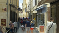 Narrow street - Saint Emilion France Stock Footage
