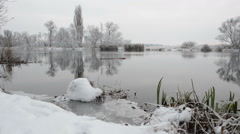 Snowy River landscape at winter Stock Footage