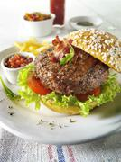 Food photos & pictures of burgers & hamburgers food recipes food  available a Stock Photos