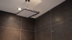 Contemporary luxury shower in bathroom Stock Footage