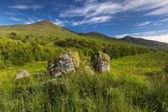 Scottish Highlands West Highland Way Glen Falloch Argyll and Bute Scotland Stock Photos