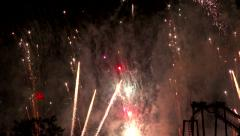 4K UHD - 60fps or 30fps - Multicolored fireworks rising fast in the air Stock Footage
