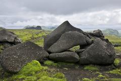 Stock Photo of Bizarre tuff rocks along the trail from Pakgil canyon to Hoefoabrekkajoekull
