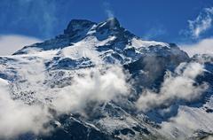Gross Schaerhorn peak seen from the Klausen Pass road Glarner Alpen Canton of Stock Photos