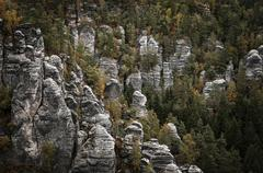 Stock Photo of sandstone rocks, nahe bastei, elbsandsteingebirge, saxon switzerland national