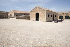Stock Photo of Fortaleza de la Mola La Mola fortress Balearen Mao Mahon Minorca Balearic