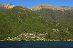 Cannero Riviera on Lake Maggiore Cannobio Piedmont Piemont Italy Europe Stock Photos