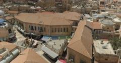 Jerusalem 4K Old city roof tops 24P Stock Footage