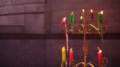 Closeup of Candles Stock Footage