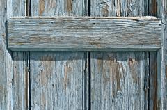 Old door in oia. Stock Photos