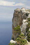 Lookout point Cap de Formentor Majorca or Mallorca Spain Europe - stock photo