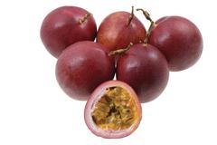 passion fruits (passiflora edulis) - stock photo
