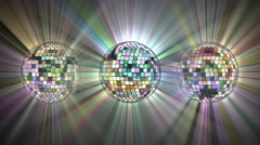 Disco mirror balls 4k. Stock Footage
