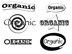 organic clip art banners - stock illustration
