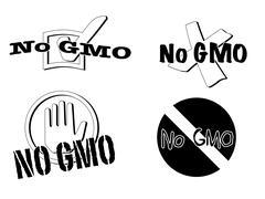 no gmo symbols - stock illustration