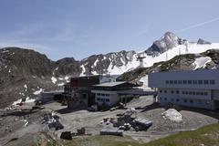 Stock Photo of alpine center at kitzsteinhorn, kaprun, hohe tauern, federal state of salzbur