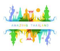 Amazing Thailand - stock illustration