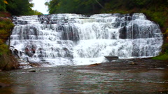 Agate Falls Northwoods Michigan - stock footage