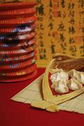 food at spring festival, chinese culture, china, asia - stock photo