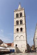 Stock Photo of belfry of the cathedral of st. anastasia, sveti stooeija, zadar, dalmatia, cr