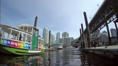 VANCOUVER BC CANADA Granville Island, False Creek - stock footage