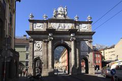 Triumphal gate, innsbruck, tyrol, austria, europe Stock Photos