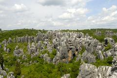 Unesco world heritage site, rocks like sculptures, karst topography, shilin s Stock Photos