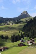 damuels, damuelser mittagsspitze mountain, bregenzerwald, bregenz forest, vor - stock photo