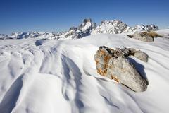 Stock Photo of bischofsmuetze, bishop\'s mitre mountain in winter, filzmoos, salzburg, austr