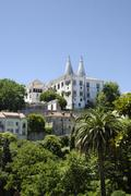 Stock Photo of royal palace palácio nacional de sintra in sintra near lisbon, part of the ""