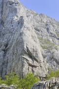 cliffs of velika paklenica canyon in paklenica national park, croatia, europe - stock photo