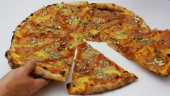 Italian pizza - the most famous in the world Stock Footage