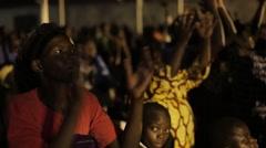 African People Applauding in Church in Kabale, Uganda - stock footage