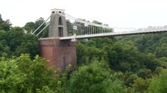 Clifton Suspension Bridge. Bristol. Mid shot - stock footage