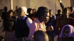 African People Praying in Church in Kabale, Uganda Stock Footage