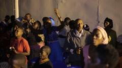 African People Praying in Church in Kabale, Uganda - stock footage