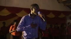 African Man Preaching in Church in Kabale, Uganda - stock footage
