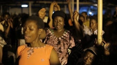African People Applauding in Church in Kabale, Uganda - stock footage