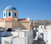 Church of serifos on the greek islands of cyclades. Stock Photos