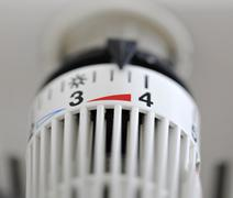 Thermostat, symbolic image for heating or energy costs Stock Photos