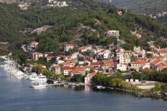 Stock Photo of skradin, krka river, aeibenik-knin, dalmatia, croatia, europe