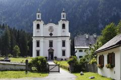 Stock Photo of pilgrimage church in kirchental, st. martin bei lofer, pinzgau, federal state