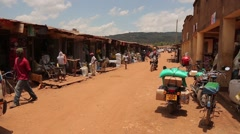 Traffic and Street View in Kabale, Uganda Stock Footage