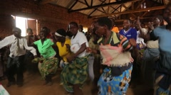 African Women from Batwa Tribe Singing and Dancing in Uganda, Africa - stock footage