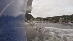 Horseshoe Bay Ferry Terminal. Sailing out of dock. Stock Footage